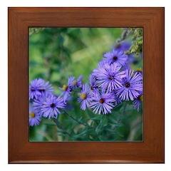 Blue Wildflowers Framed Tile