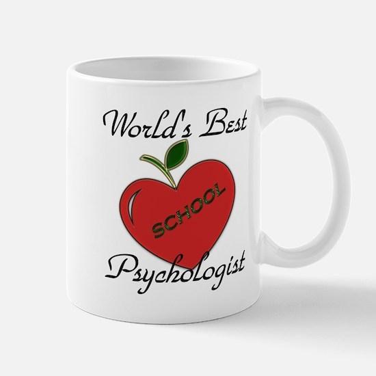 Worlds Best Teacher Apple psych Mugs