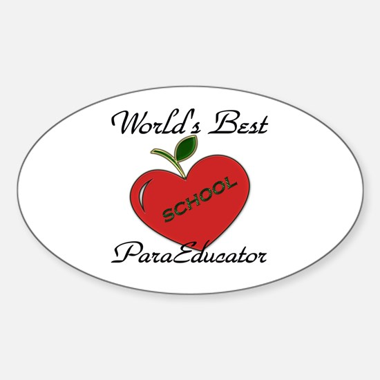 Unique Preschool teacher Sticker (Oval)