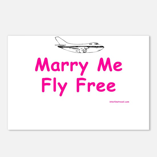 Marry Me, Fly Free (Pink) Postcards (Package of 8)
