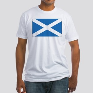 Scotland Flag Fitted T-Shirt