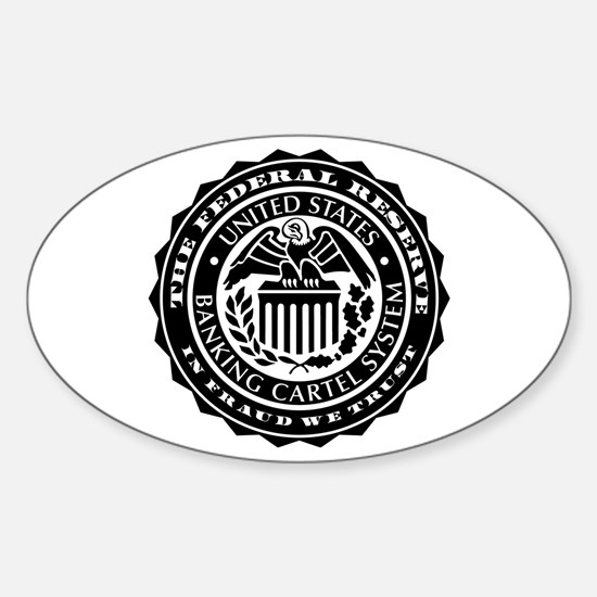 Federal Reserve Seal Sticker (Oval)