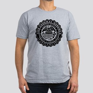 Federal Reserve Seal Men's Fitted T-Shirt (dark)