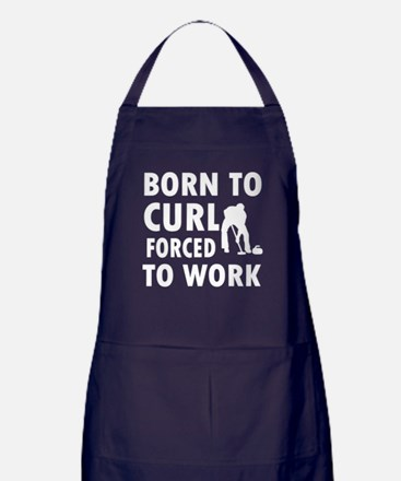 Born to Curl Apron (dark)