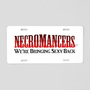Necromancer Aluminum License Plate