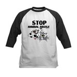 Stop Animal Abuse - Kids Baseball Jersey