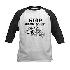 Stop Animal Abuse - Kids Baseball Jersey