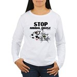 Stop Animal Abuse - Women's Long Sleeve T-Shirt