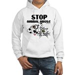 Stop Animal Abuse - Hooded Sweatshirt