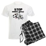 Stop Animal Abuse - Men's Light Pajamas