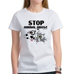 Stop Animal Abuse - Women's T-Shirt