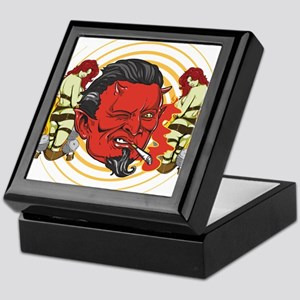 Smoking Devil Keepsake Box
