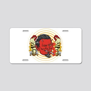 Smoking Devil Aluminum License Plate