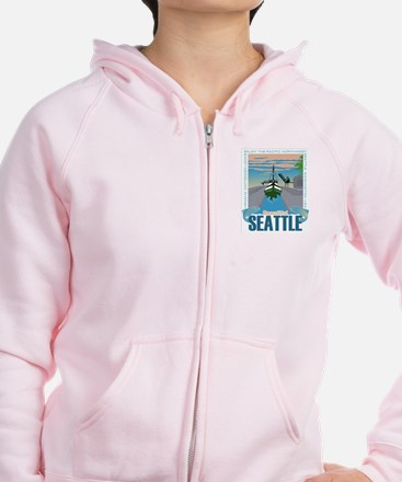 Beautiful Seattle Zip Hoodie
