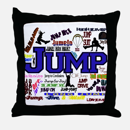 Funny Jump rope Throw Pillow