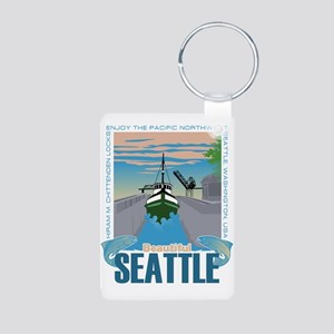 Beautiful Seattle Aluminum Photo Keychain