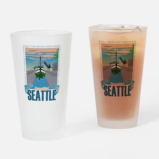Beautiful Seattle Drinking Glass