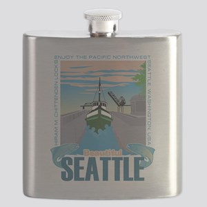 Beautiful Seattle Flask