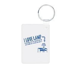 I Love Lamp Keychains