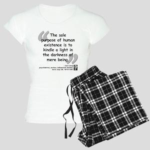 Jung Purpose Quote Women's Light Pajamas