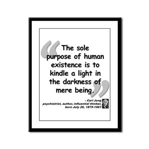 Jung Purpose Quote Framed Panel Print