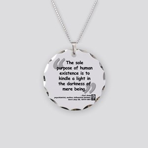 Jung Purpose Quote Necklace Circle Charm