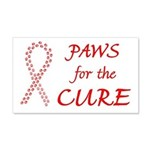 Red Paws4Cure 22x14 Wall Peel