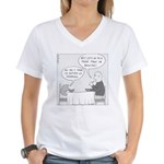 Scott's Hair (no text) Women's V-Neck T-Shirt