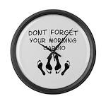 Morning Cardio Large Wall Clock