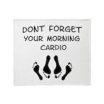 Morning Cardio Throw Blanket