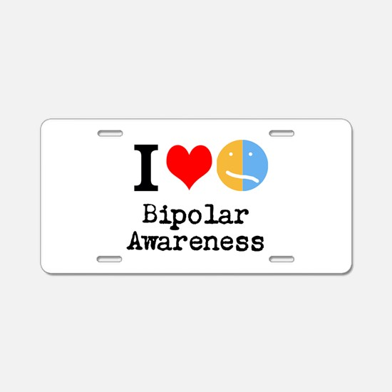 I <3 Bipolar Aluminum License Plate