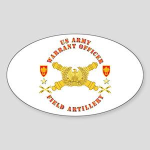 Warrant Officer - Field Artillery Sticker (Oval)