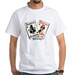 Growing Up Astoria Cards T-Shirt (white)