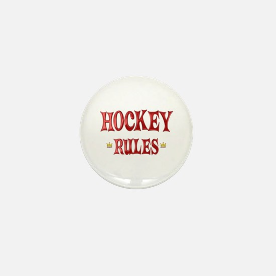 Hockey Rules Mini Button