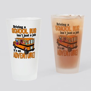 Driving a School Bus Drinking Glass