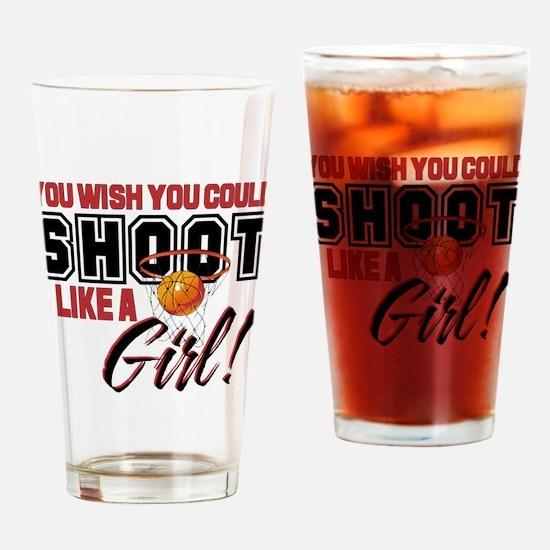 Basketball - Shoot Like a Girl Drinking Glass