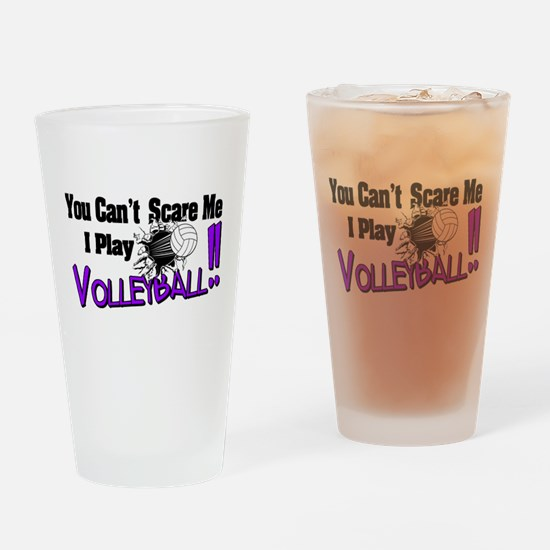 Volleyball - No Fear Drinking Glass