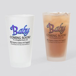 Baby - Coming Soon! Drinking Glass