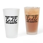 Dad with Daughters Drinking Glass