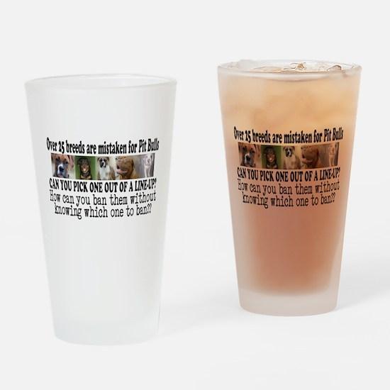 Doggie Line-up Drinking Glass