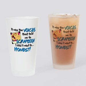 Scrapbooking Voices Drinking Glass