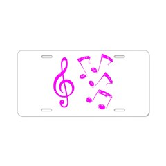 G-clef with Musical Notes VII Aluminum License Pla