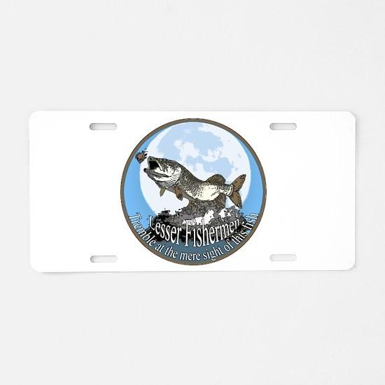 lesser fishermen Aluminum License Plate