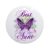 Aunt Round Ornaments