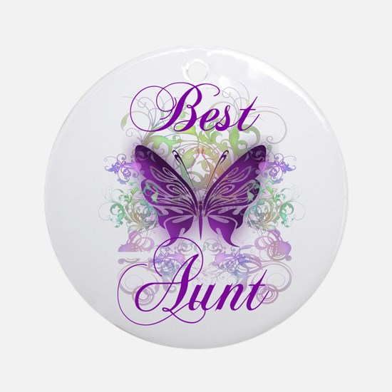 Best Aunt Ornament (Round)