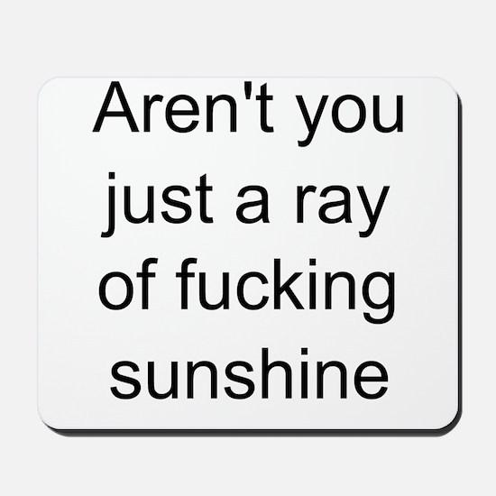 ray of sunshine Mousepad