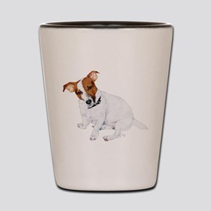 Jack Russell Painting Shot Glass