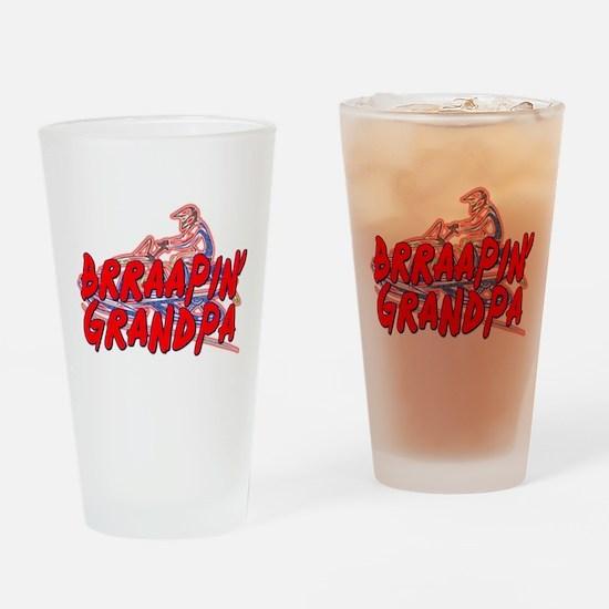 Brraapin' Grandpa Drinking Glass