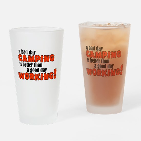 Bad Day Camping Drinking Glass
