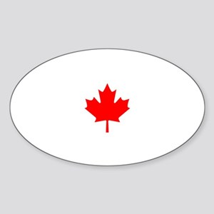 Canada Canadian (CA) Flag - Oval Sticker